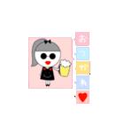 るの子×サングラス(個別スタンプ:08)