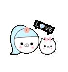 るの子×ねこ子(個別スタンプ:01)