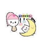 るの子×ねこ子(個別スタンプ:03)