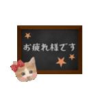 黒板で伝える敬語ネコ(個別スタンプ:03)