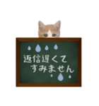 黒板で伝える敬語ネコ(個別スタンプ:08)