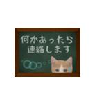 黒板で伝える敬語ネコ(個別スタンプ:17)