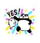 パンダと白いハムスター3(個別スタンプ:07)