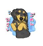 犬っぽさ全開のダックスたち(個別スタンプ:08)