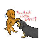 犬っぽさ全開のダックスたち(個別スタンプ:26)