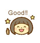 かわいい女の子スタンプ(ボブヘアー)(個別スタンプ:2)