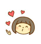 かわいい女の子スタンプ(ボブヘアー)(個別スタンプ:30)