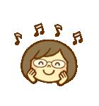 かわいい女の子スタンプ(メガネちゃん)(個別スタンプ:30)