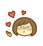かわいい女の子スタンプ(メガネちゃん)(個別スタンプ:31)