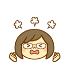かわいい女の子スタンプ(メガネちゃん)(個別スタンプ:36)