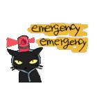 黒猫で会話(個別スタンプ:8)