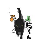 黒猫で会話(個別スタンプ:21)