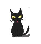 黒猫で会話(個別スタンプ:24)