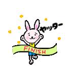 走るうさぎちゃん(個別スタンプ:18)