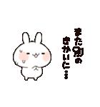うさぎのお断りセット(個別スタンプ:04)