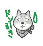 柴犬の顔だけイラストスタンプ(個別スタンプ:08)