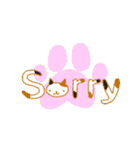猫の文字スタンプ(個別スタンプ:3)