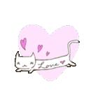 猫の文字スタンプ(個別スタンプ:21)