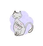 猫の文字スタンプ(個別スタンプ:23)
