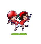 鯉ちゃん/茶髪ロン毛赤ヘル【やや広島弁】(個別スタンプ:3)
