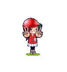 鯉ちゃん/茶髪ロン毛赤ヘル【やや広島弁】(個別スタンプ:6)