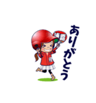 鯉ちゃん/茶髪ロン毛赤ヘル【やや広島弁】(個別スタンプ:11)