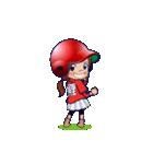 鯉ちゃん/茶髪ロン毛赤ヘル【やや広島弁】(個別スタンプ:16)