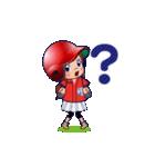 鯉ちゃん/茶髪ロン毛赤ヘル【やや広島弁】(個別スタンプ:22)