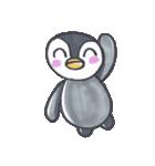 手描きのかわいいペンギンスタンプ(個別スタンプ:03)
