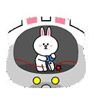 全力アクション★LINEキャラクターズ(個別スタンプ:05)