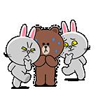 全力アクション★LINEキャラクターズ(個別スタンプ:13)