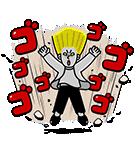 全力アクション★LINEキャラクターズ(個別スタンプ:19)