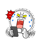 全力アクション★LINEキャラクターズ(個別スタンプ:20)