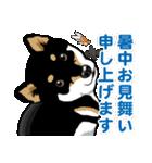 わんこ日和 黒柴11 夏(個別スタンプ:09)