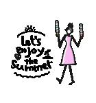 Woman Summer【英語】(個別スタンプ:16)
