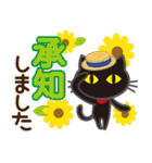 黒ねこ×夏の日常(個別スタンプ:04)