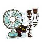 黒ねこ×夏の日常(個別スタンプ:18)