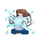 動く!戦う!ドット絵魔法少女(個別スタンプ:01)
