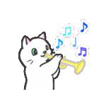 楽器演奏するネコ(個別スタンプ:01)