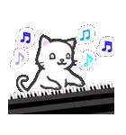 楽器演奏するネコ(個別スタンプ:05)