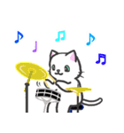 楽器演奏するネコ(個別スタンプ:06)