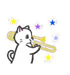 楽器演奏するネコ(個別スタンプ:09)