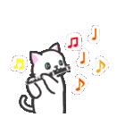 楽器演奏するネコ(個別スタンプ:10)