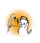 楽器演奏するネコ(個別スタンプ:14)