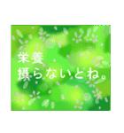 """伝えたい想いにかわいい花を添えて""""応援""""(個別スタンプ:24)"""
