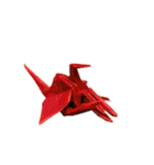 足のある折鶴(個別スタンプ:3)