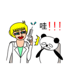 ナンシーとパンダ 2(中国語版)(個別スタンプ:28)