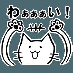 バンザイ猫のぽんちゃん