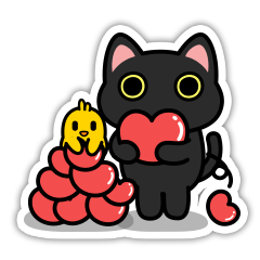 """UNO CAT """"Real Sticker ver."""""""
