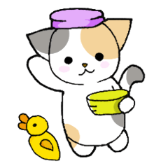 [LINEスタンプ] 【日常用】行動猫スタンプ (1)